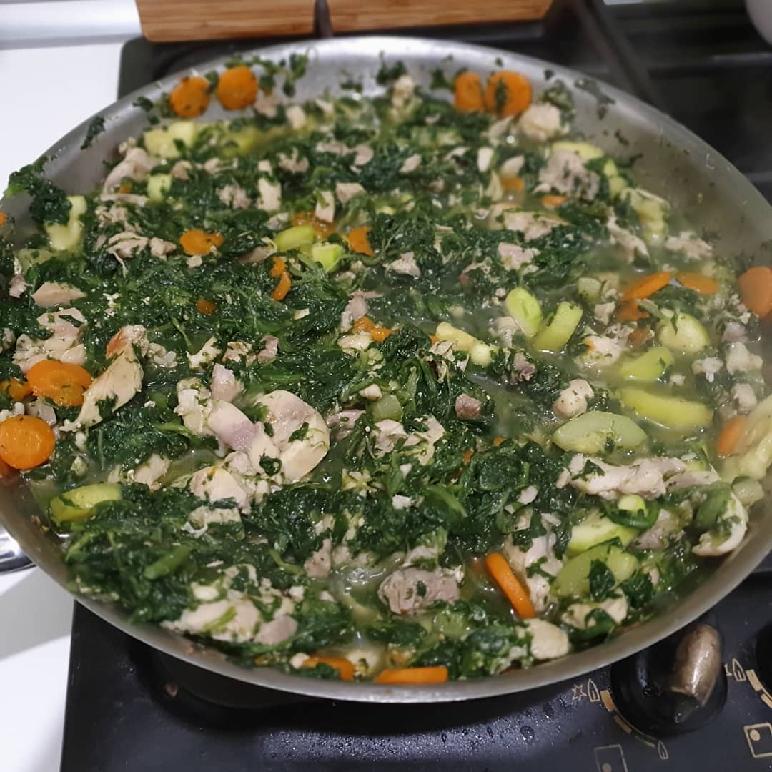 Spinach doesn't always look pretty but it's always healthy. Added