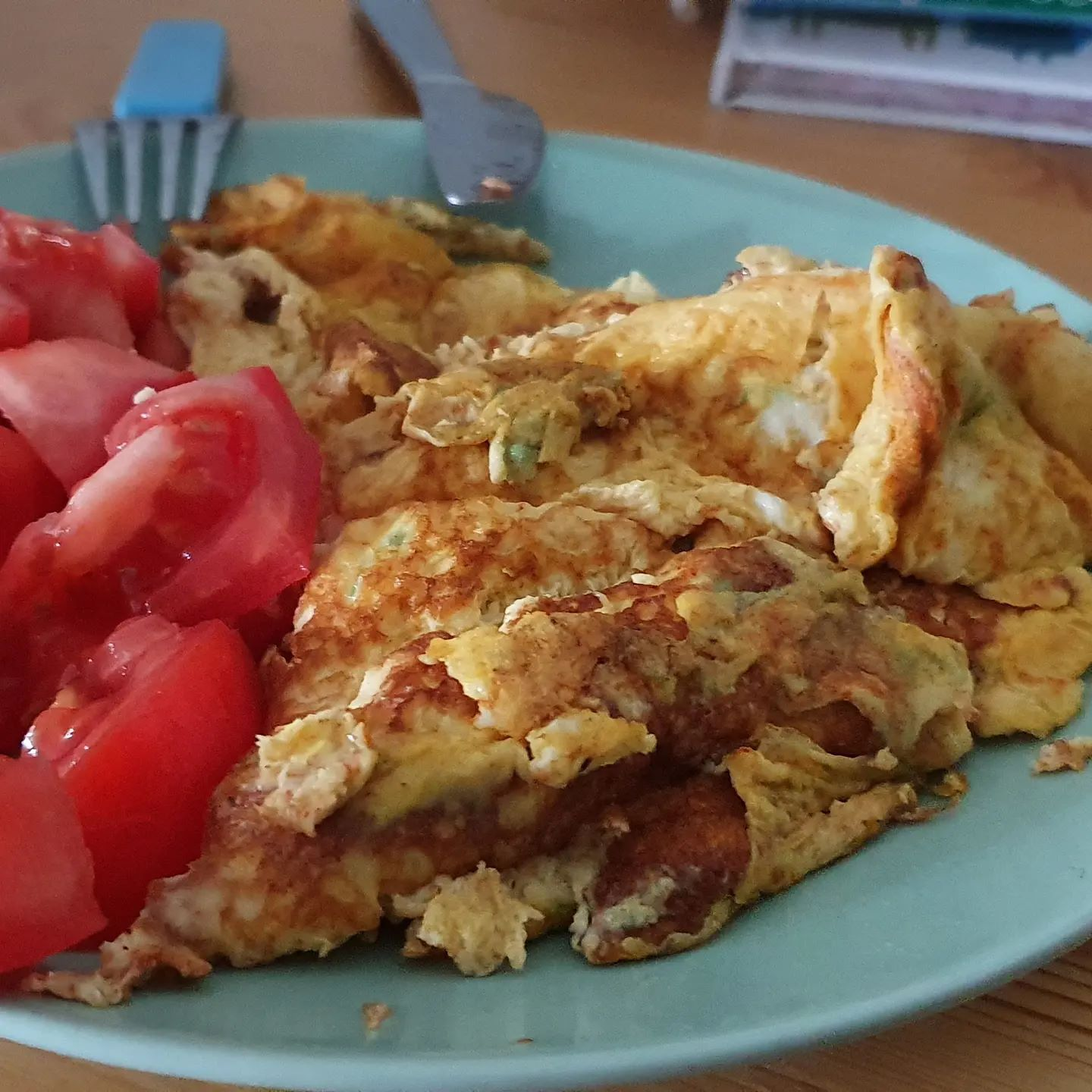 Sometimes a simple(ish) omlette does wonders, even if it's not